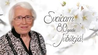 Sveicam 80 gadu jubilejā Lilitu Vilku!